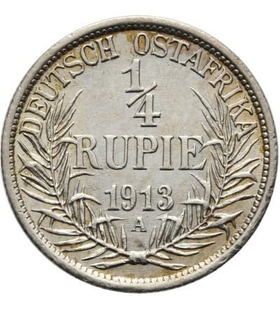 German East Africa 1/4 Rupie 1913 A