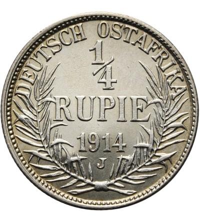 Niemiecka Afryka Wschodnia 1/4 rupii 1914 J