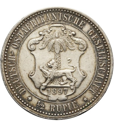 Niemiecka Afryka Wschodnia 1/2 rupii 1897
