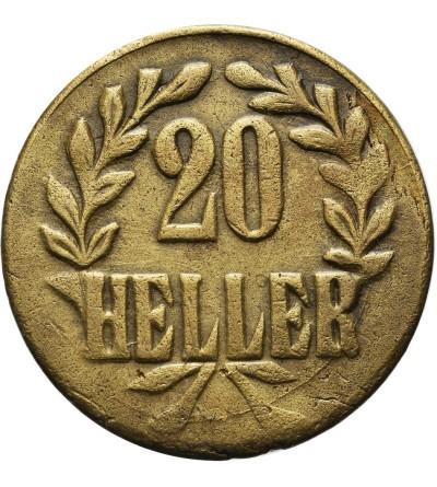 German East Africa 20 Heller 1916 T