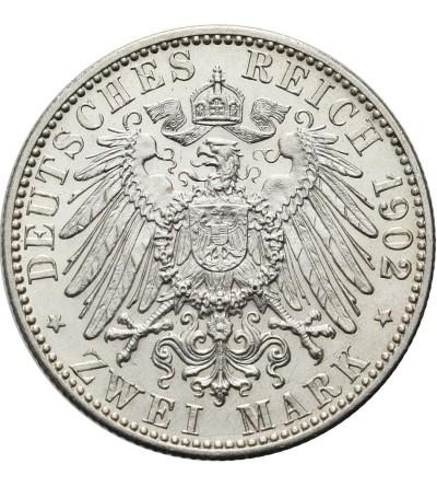 Badenia 2 marki 1902, pośmiertne