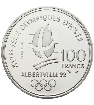Francja 100 franków 1990, bobsleje