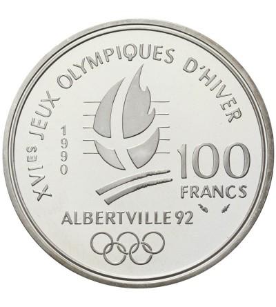 France 100 Francs 1990, Slalom skiers