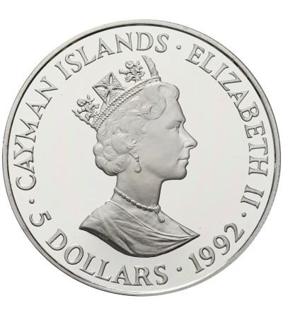 Cayman Islands 5 Dollars 1992, Olimpics 1992 - Barcelona