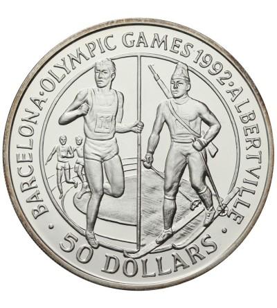 Wyspy Cooka 50 dolarów 1989, Olimpiada 1990