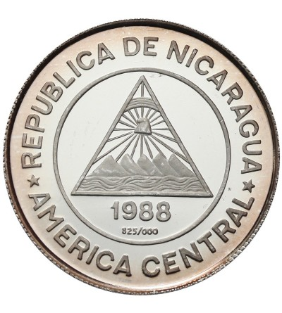 Nicaragua 50 Cordobas 1988, Olimpics 1988 - Calgary