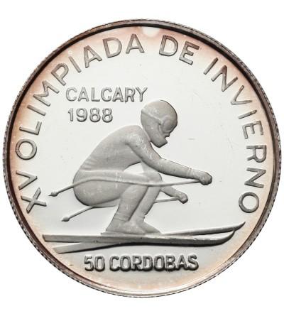 Nikaragua 50 cordobas 1988, Olimpiada 1988 - Calgary