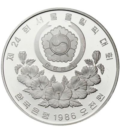 South Korea 5000 Won 1986, XXIV Olimpics - Seul