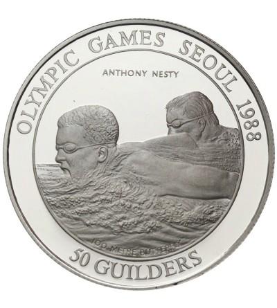 Suriname 50 guilders 1988, Olimpiada