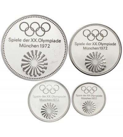 Zestaw srebrnych medali Olimpiada w Monachium 1972 - 4 sztuki