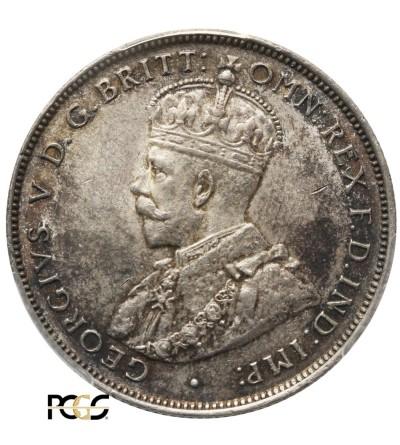 British West Africa 2 Shillings 1918 H. PCGS AU 58