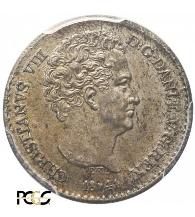 Denmark 4 Rigsbankskilling 1841 FK. PCGS MS 64