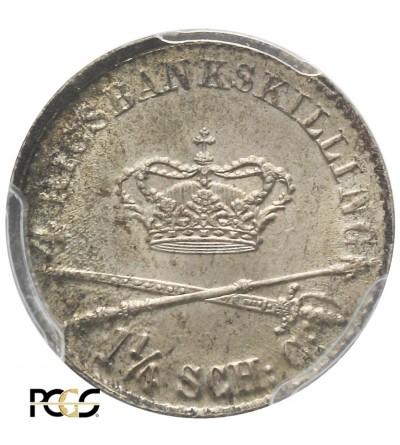 Dania 4 Rigsbankskilling 1841 FK. PCGS MS 64