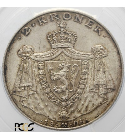 Norway 2 Krone 1906. Independence. PCGS MS 66