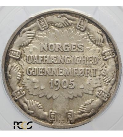 Norwegia 2 Kroner 1906. PCGS MS 66