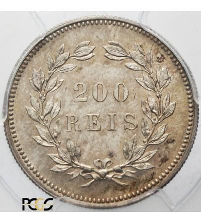 Portugalia 200 reis 1891. PCGS MS 66