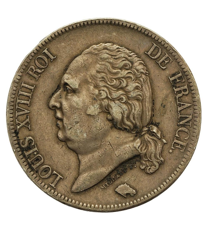 Francja 5 franków 1821 B, Rouen