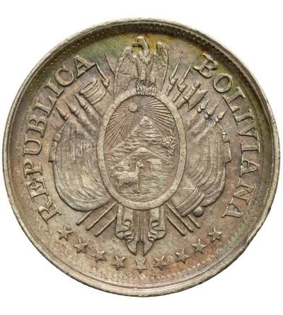 Bolivia 50 Centavos (1/2 Boliviano) 1894 PTS ES
