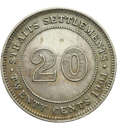 Malaje - Straits Settlements 20 centów 1901