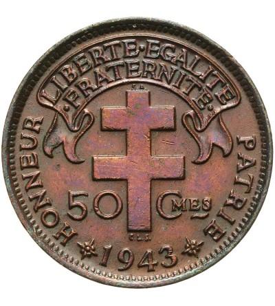 Francuska Afryka Równikowa 50 centimes 1943