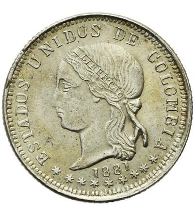 Kolumbia 10 Centavos 1881, Bogota