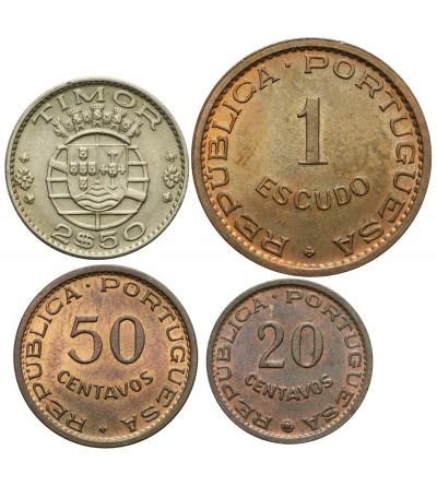 Timor 20, 50 centavos 1, 2,5 escudos 1970