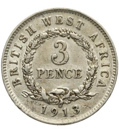 Brytyjska Afryka Zachodnia 3 pensy 1913 H