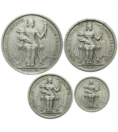 Francuska Oceania 50 centimes 1, 2, 5 franków 1949-1952