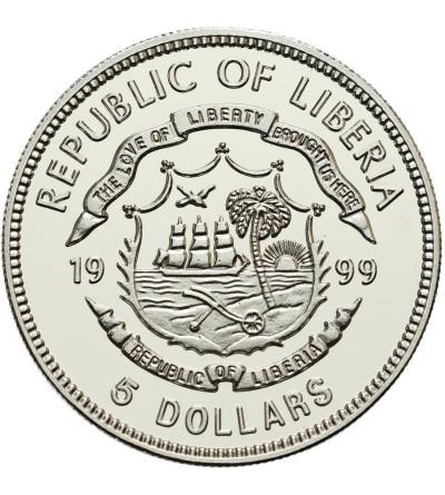 Liberia 5 dolarów 1999, J. F. Kennedy
