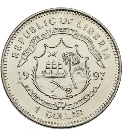 Liberia 1 dolar 1997, Mahatma Gandhi - 100 lecie niepodległości Indii