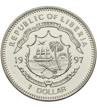 Liberia 1 dolar 1997, Chiński smok