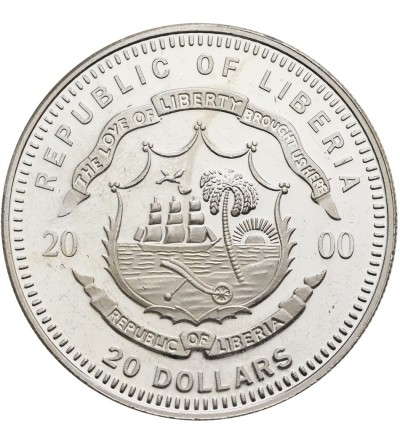 Liberia 20 dolarów 2000, Luksemburg