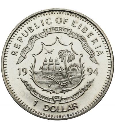 Liberia 1 dolar 1994, goryle