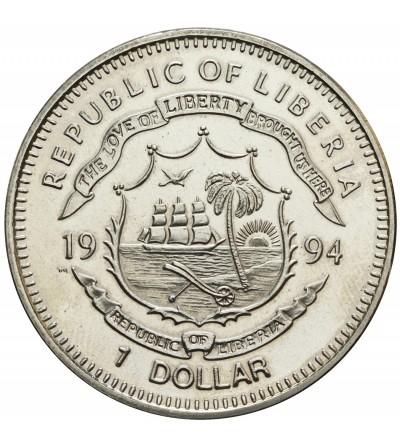 Liberia 1 dolar 1994, żółw