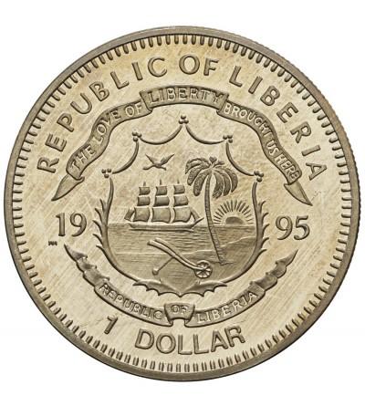 Liberia 1 dolar 1995, bociany
