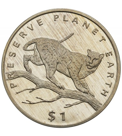 Liberia 1 dolar 1995, leopard