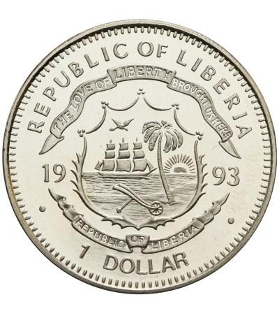 Liberia Dollar 1993, Protoceratops