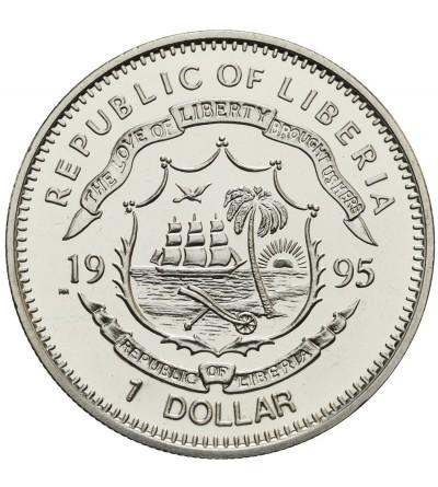 Liberia 1 dolar 1995, 375 rocznica Ojców Pielgrzymów