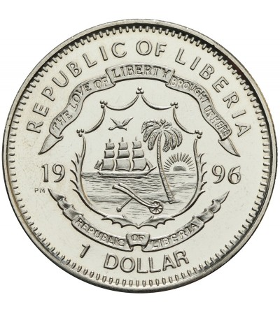Liberia 1 dolar 1996, Davy Crockett