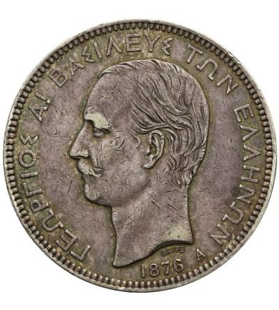 Grecja 5 drachm 1876