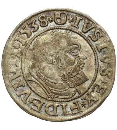 Prusy Książęce. Grosz 1538 Królewiec