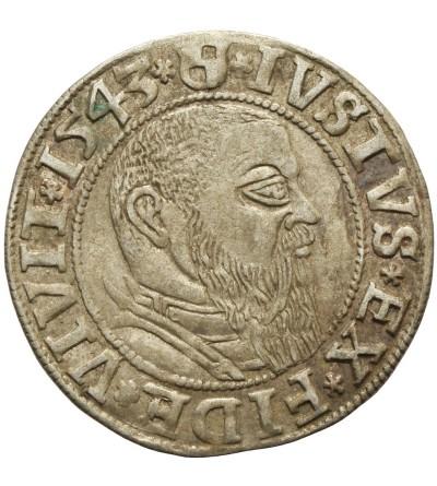 Prusy Książęce. Grosz 1543 Królewiec