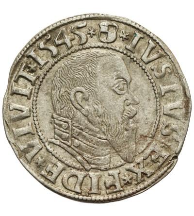 Prusy Książęce. Grosz 1545 Królewiec