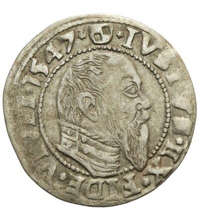 Prusy Książęce. Grosz 1547 Królewiec