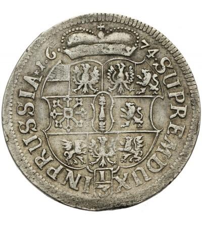 Prusy Książęce 1/3 talara 1674 HS, Królewiec
