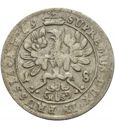 Prusy Książęce ort 1679 HS, Królewiec
