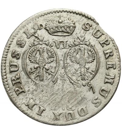 Prusy Książęce szóstak 1687 HS, Królewiec