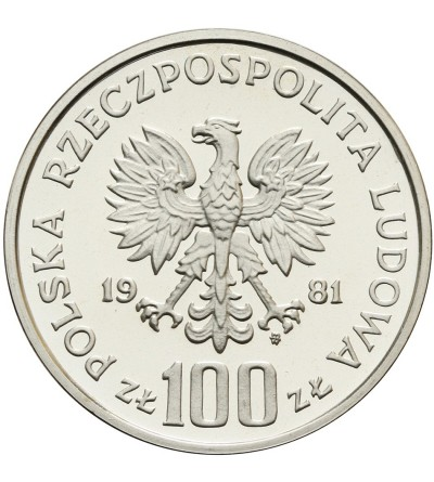 Poland 100 zlotych 1981, horse