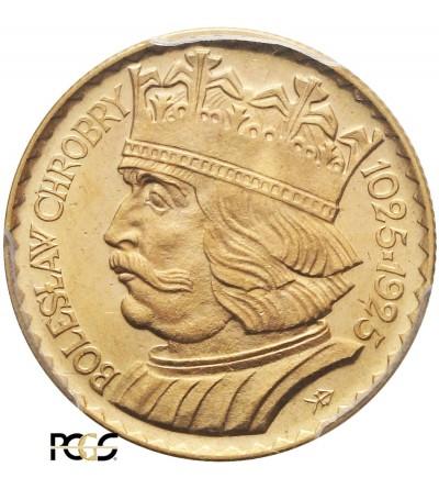 10 złotych 1925, Bolesław Chrobry, PCGS MS 66