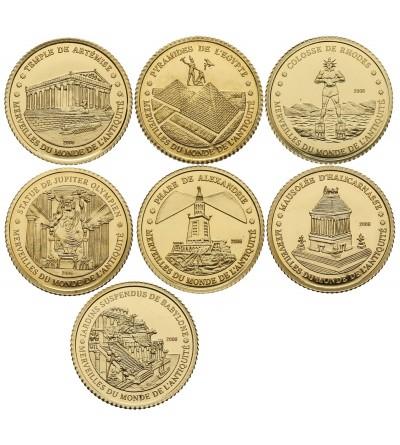 Wybrzeże Kości Słoniowej 1500 franków 2006 - zestaw 7 sztuk